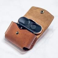 可刻名索尼Sony WF-1000XM3耳機充電盒客制皮革保護套 真皮耳機盒