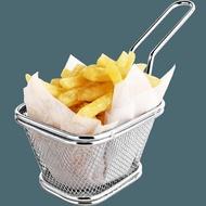 油炸籃 迷你小炸籃 薯條籃薯條架小吃架薯條筐 304不銹鋼油炸籃炸網 商用