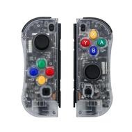 Nintendo Switch 副廠 Joy-Con 左右手控制器 雙手把 透明 【六軸 體感 震動】台中星光電玩