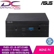 ASUS PN51-E1-B-B7121MB AMD Ryzen™ 7 5700U | BareBone Mini PC | Keyboard + mouse+ 16GB + 500GB SSD + WIN10 HOME (UN)