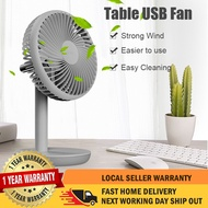 VKV Cordless Portable USB Model Table Fan With Rechargeable Built In Battery