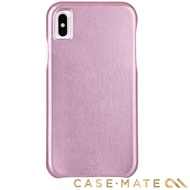 【美國 CASE-MATE】iPhone XS Max Barely There Leather(簡約超薄真皮手機殼-粉金色)