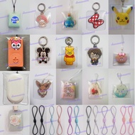 Protector cover and elastic strap for ezlink charm and sg trace together token tracetogether pouch