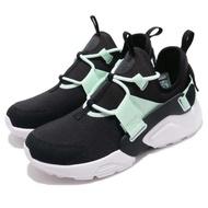 【NIKE 耐吉】休閒鞋 Air Huarache City 女鞋 男鞋 武士鞋 穿搭 透氣 舒適 球鞋 黑 綠(AH6804-010)