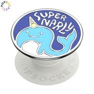 泡泡騷 PopSockets 手機氣囊支架 獨角小藍鯨 Enamel Super Narly Blue <可替換泡泡帽>
