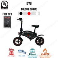 ♕ DYU ♕ UL2272 Certified ♕ Local Seller ♕ Electric Scooter ♕ LTA Compliance ♕ Ready Stock ♕