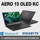 GIGABYTE技嘉 AERO 15 OLED KC 15.6吋UHD電競筆電(i7-10870H/16G/512G SSD/RTX3060-6G/Win10P)