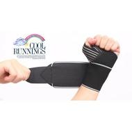 AOLIKES 黑色款 可調式 高透氣 護掌 運動護腕 手腕束帶 纏繞護腕