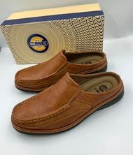 รองเท้าคัชชูผู้ชาย รองเท้าคัชชูเปิดส้น คัชชูใส่ลำลองคัชชูพื้นนุ่มคัตชูคนทำงาน คัชชูพื้นหนานุ่ม