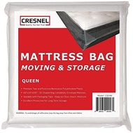 CRESNEL Mattress Bag Moving & Long-term Storage - QUEEN size - Enhanced mattress protection Super Thick Tear & Puncture Resistance Polyethylene