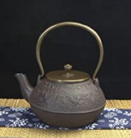 Teapot Cast Iron Iron Pure Hand Iron Pot [Shuangfeng] Cast Iron Pot Cast Iron Pot Japan Old Iron Pot 1.3L
