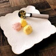 可彈式不銹鋼雪糕球挖勺創意工具冰激凌勺子家用雪糕冰淇淋挖球器1入