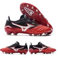 Mizuno_Morelia_Neo_II FG Football Shoes Professional Soccer Cleats Mens Futsal Shoes-Black Red