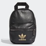 【adidas 愛迪達】BACKPACK MINI PU 皮革 迷你後背包 黑色 女款(FL9629)