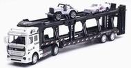 汽車運輸車 拖板車 物流40呎貨櫃車 可載運多美小汽車 TOMICA 風火輪小車