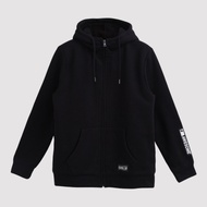 Hang Ten - 男裝 - 潮感印條連帽外套 - 黑