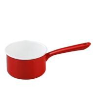 月兔印 琺瑯單手牛奶鍋(紅.14cm)