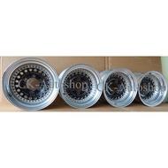Japan Used 4x4 4WD Sport Rim / Aluminum Wheel Raguna D-Force Black 2 piece 15x8.5JJ PCD 139.7 x 6H Offset -28 4pcs/set