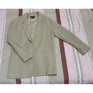 Massimo Dutti 卡其色西裝外套(秋)二手