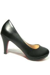 5T&P รองเท้าแฟชั่นคัชชูส้นสูงผู้หญิง (สีดำ)