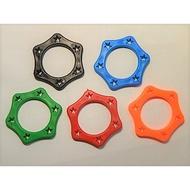 麥克風防滑圈 麥克風防滾套 麥克風保護套  六角形圈 防滾圈 內徑 34 mm  顏色隨機 麥克風套