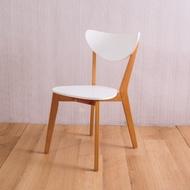 AS-安娜全實木餐桌椅-柚木色-45X50X80cm