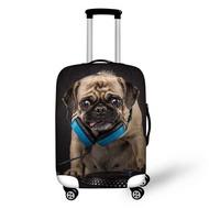3D Pug Bulldog พิมพ์เคสคลุมกระเป๋าเดินทางสำหรับ18-30นิ้วอุปกรณ์เสริมกระเป๋าเดินทางกระเป๋าเดินทางฝาครอบป้องกัน