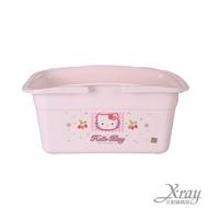 X射線【C130018】Kitty粉色浴室手提籃,收納桶/收納籃/韓國製