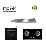Mayer M Series 90CM Semi-Integrated Hood with Built in Oven & FREE Glass Gas Hob
