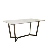 Sylvia-Sg Dining Table With Marble Top (Free Delivery)
