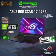 "[Express Delivery] ASUS ROG STRIX Scar 17 G733QR-RTX3070 Gaming Laptop (Ryzen 9 5900HX/32GB/RTX 3070/17.3"" 300hz/W10/2Y)"