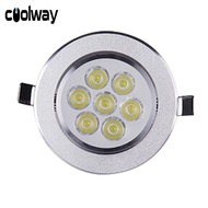 Coolway Downlight 3W/5W/7W LED Recessed Ceiling Downlight Spotlight Wall Background Decor Light