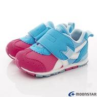 日本月星Moonstar機能童鞋-頂級HI系列學步款1504粉藍(寶寶段) 618購物節