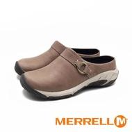 【MERRELL】ENCORE SLIDE 4 牛皮便鞋涼拖鞋(卡其灰)
