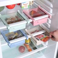 ปรับครัวตู้เย็นลิ้นชักแผ่นตู้แช่แข็งออแกไนเซอร์จัดเก็บชั้นวางที่วางชั้นเก็บ