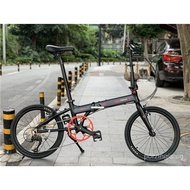 Gaotelu Foldable Bicycle 9-Speed 20 Inch Assembly Aluminum Alloy Small Wheel Men's And Women's Bicycle Adult Portable Car io3F