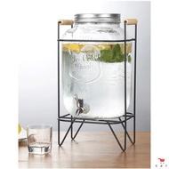 梅森罐 5L&8L 玻璃罐 出AMJ口歐美日本 冷水壺 304不銹鋼水龍頭飲料桶 紅茶桶艾米家