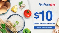 [FAIRPRICE ON] $10 Voucher NTUC FairPrice Online E-Voucher/SGD10 Off/Promo Code/Gift Voucher (Email)