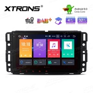 XTRONS Android 9.0 Car Stereo Single DIN Auto Head Unit Octa Core 4+32GB GPS Navigation with 8 Inch Multi-Touch Screen Car Radio Supports WiFi 4K Video Backup Camera OBD2 DVR TPMS for Chevrolet GMC Hummer Buick