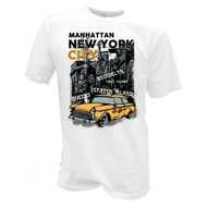 T-Shirt Taxi New York City Manhattan Brooklyn Retro Usa Vintage Yellow Cap 1226 Christmas Gift