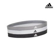 【adidas 愛迪達】Yoga 止滑運動髮帶組(沉穩黑/簡潔白/內斂灰)
