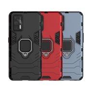 Realme GT 5G 鎧甲保護殼雙層抗震TPU+PC軟硬殼全包式指環支架手機殼背蓋