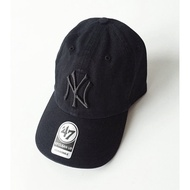 47 Brand Yankees NY 47 洋基全黑棒球帽/老帽