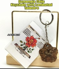 Keychain Gumamela Celis Talandro with Red Pouch