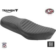 《美式工廠》美國 MUSTANG 凱旋 座墊 運動橫條紋 T100 Triumph Thruxton Scrambler