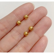 999足金黃金 4.4mm小金珠黃金配件