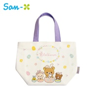 【日本正版】拉拉熊 帆布 保冷袋 手提袋 便當袋 保冷提袋 懶懶熊 Rilakkuma San-X 734585