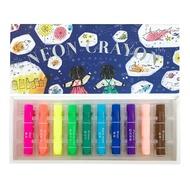 【KOKUYO/日本製】國譽 螢光蠟筆5色組/10色組 透明 夜光 3歲以上適用