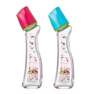 日本 Dr. Betta 玻璃防脹氣奶瓶 Brain G4-Carrousel(紅/藍) 240ml【總代理公司貨】