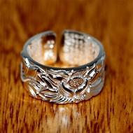 ราคาพิเศษทุกวันหฤทัยสูตรแหวน S999 เงินเต็มเงินบริสุทธิ์แนวย้อนยุค LOTUS เปิดหลักคำสอนชายและหญิงแหวน
